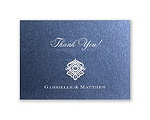 Luminous Lace - Sapphire Shimmer - Thank You Card and Envelope