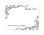 Fanciful Chalkboard - Plum - Thank You Card and Envelope