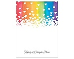 Rainbow Hearts - Thank You Card and Envelope