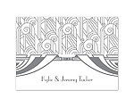 Deco Glamour - Silver - Thank You Card and Envelope