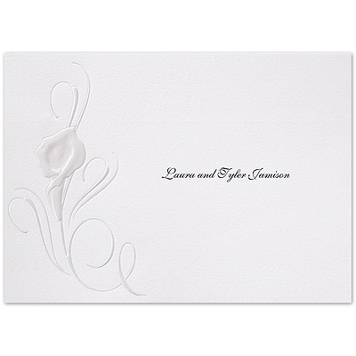 Calla Lily Swirl - Thank You Card and Envelope