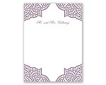 Indian Trellis - Thank You Card and Envelope