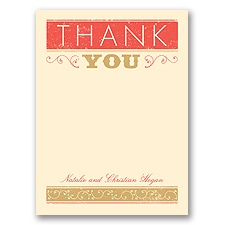 Autumn Typography - Thank You Card and Envelope