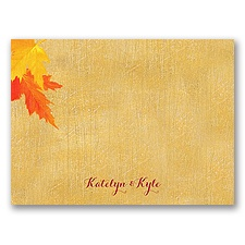 Mystic Maple Leaves - Thank You Card and Envelope