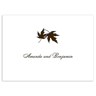 Falling Leaves - Thank You Card and Envelope