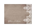 Vintage Lace - Thank You Card and Envelope