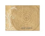 Woodgrain Circle - Thank You Card and Envelope