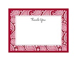Perfect Paisley Duet - Apple - Thank You Card and Envelope