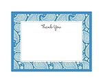 Perfect Paisley Duet - Cornflower- Thank You Card and Envelope