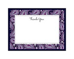 Perfect Paisley Duet - Lapis- Thank You Card and Envelope