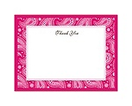 Perfect Paisley - Watermelon - Thank You Card and Envelope