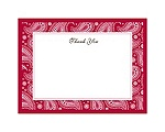 Perfect Paisley - Apple - Thank You Card and Envelope