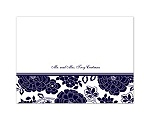 Floral Patterned - Lapis - Thank You Card and Envelope