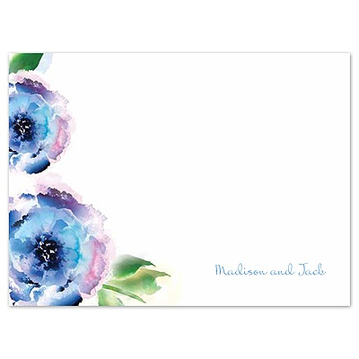 Treasured Jewels Splendor - Blue Thank You Card and Envelope