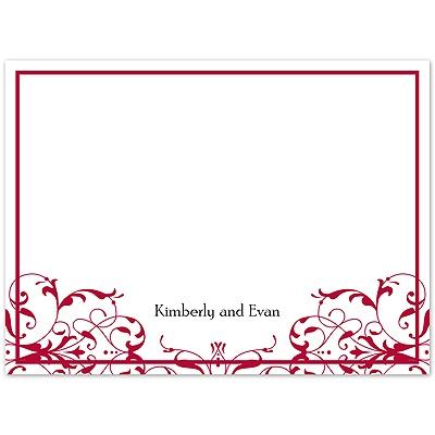 Opulent Band - Apple - Thank You Card and Envelope