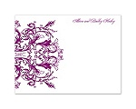 Enchanted Color -Sangria - Thank You Card and Envelope