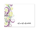 Watercolor Floral - Sangria - Thank You Card and Envelope