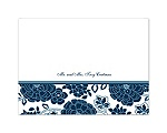 Floral Patterned - Peacock - Thank You Card and Envelope
