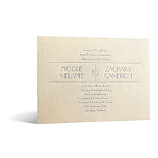 Wedding Radiance in Foil Print - Champagne Shimmer - Invitation