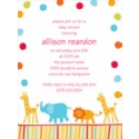 Circus Animals - Baby Shower Invitation
