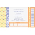 VIP Pass - Baby Shower Invitation
