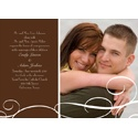 White Swirls - Brown Photo Save the Date Card