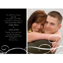 White Swirls - Black Photo Save the Date Card