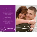 White Swirls - Photo Save the Date Card