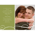 White Swirls - Green Photo Save the Date Card