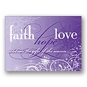 Faith, Hope, Love - Purple
