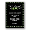 Eat, Drink, Be Merry - Green - Party Invitation