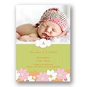 Sweet Flowers - Photo Birth Announcement