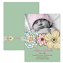 Funky Flowers - Photo Birth Announcement