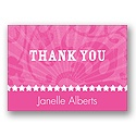 Rockin' Pink - Thank You Card