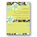 Exotic Flowers - Bridal Shower Invitation