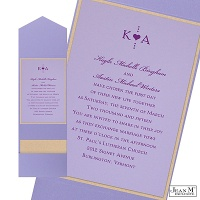 Orchid Layered Wedding Invitation with Pocket