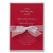 Merlot Layered Wedding Invitation
