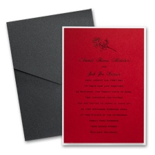Merlot Layered Wedding Invitation with Pocket
