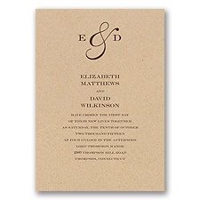 Kraft Paper Wedding Invitation Card