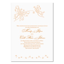 Romantic Butterflies Wedding Invitation - White