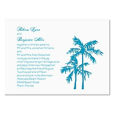 Palm Trees Wedding Invitation - White