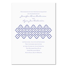 Geometric Romance Wedding Invitation - White