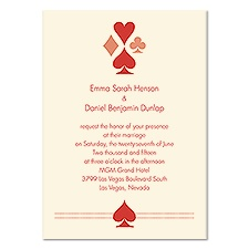 Well Suited Wedding Invitation - Ecru