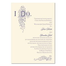 I Do Wedding Invitation - Ecru