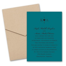 Peacock Wedding Invitation Card with Pocket