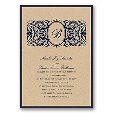 Kraft Paper Layered Wedding Invitation