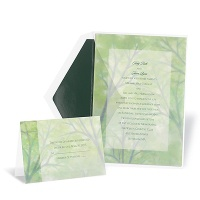 Misty Forest Wedding Invitation