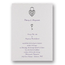 Unlocking Love Wedding Invitation
