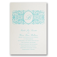 Ecru Shimmer Wedding Invitation Card