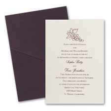 Ecru Shimmer Wedding Invitation Card with Pocket